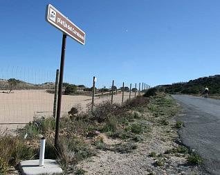 Aspecto de lugar de la playa del Carabassí en el que se situará el aparcamiento