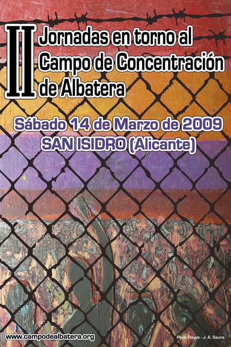 Cartel de las III Jornadas Campo ConcentraciÓn Albatera