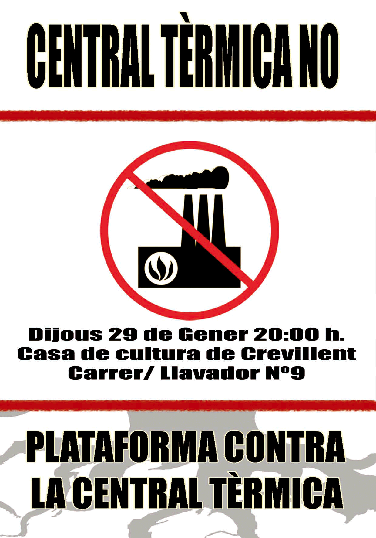 Cartel de la 'Plataforma Central Térmica No'