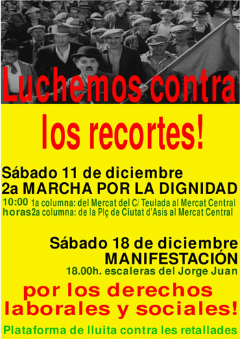 Manifestación contra los recortes sociales