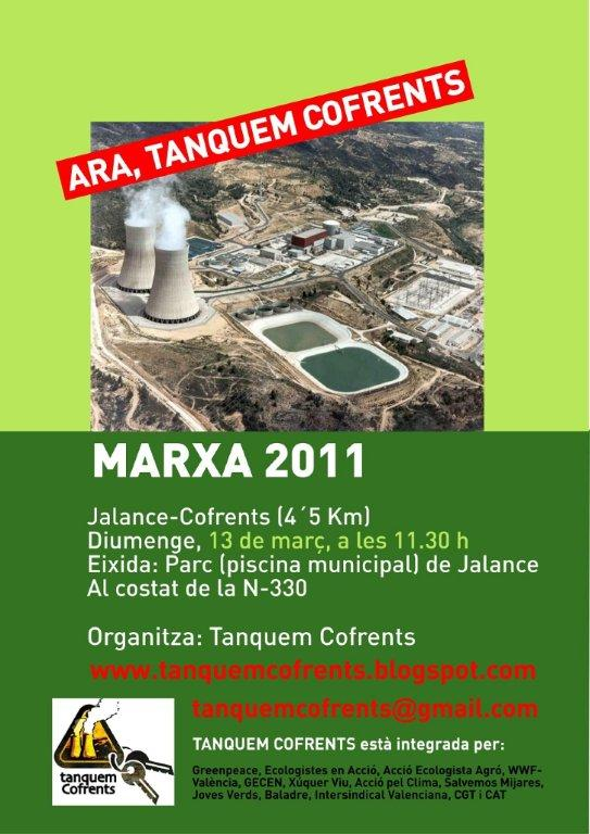 Marxa antinuclear a Cofrents
