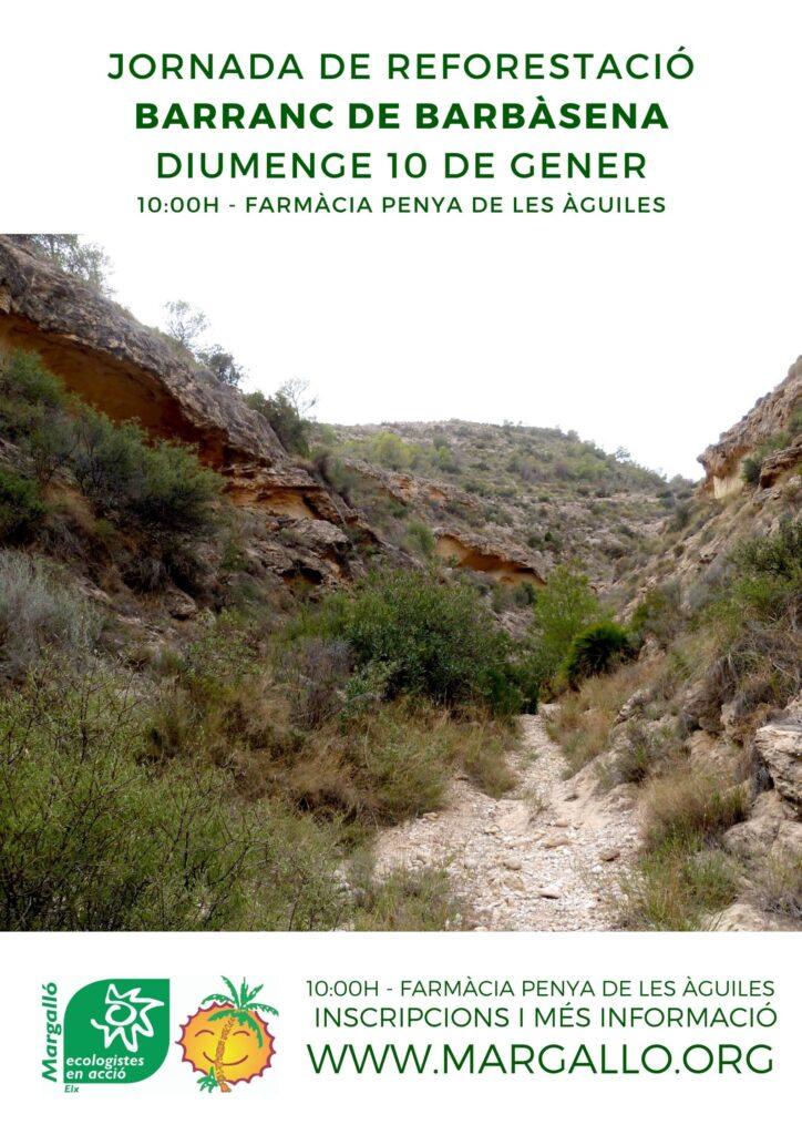 Jornada de reforestació al Barranc de Barbàsena el diumenge 10 de gener de 2021